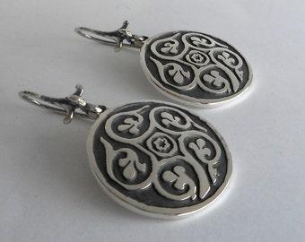 Sterling Silver Bohemian Earrings, Persian Jewelry Made in Montana Fine Jewelry Anniversary Gift for Wife Persian Earrings