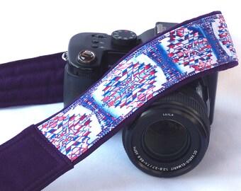 dSLR Camera Strap, Southwestern, Tribal Camera Strap,  Native American Camera Strap (inspired). Mens Camera Strap. Camera Accessories