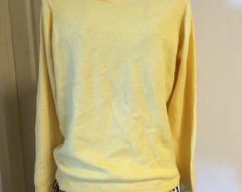 Yellow Cashmere Sweater by McGregor of Dublin