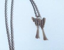 """Vintage Pentti Sarpaneva bronze """"Kaarna"""" necklace // """"Bark"""" bronze necklace Finland // Bark necklace pendant // Vintage modernist / Woodland"""