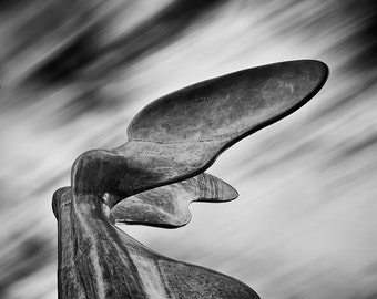 Nike Sculpture, Vancouver – Fine Art Photograph, Vancouver Art, Vancouver Photo, Victory, Wings, Clouds