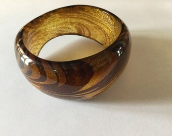 SALE***SALE****LUCITE Chunky Wide Asymetrical Bracelet   Bangle Bracelet
