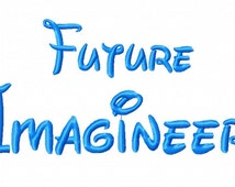 Future Imagineer Text - Embroidery Machine - Instant Download - Monkey Doodle Digitizing