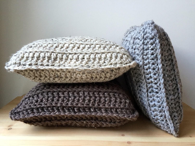 light gray chunky bohemian throw pillow - northwest frame of mind