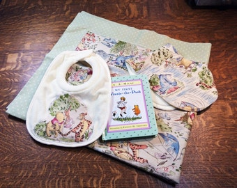Swaddle Set,Baby Receiving Blanket Set, Baby Blanket Set, Baby Gift Set, Baby Book Set, Baby Shower Gift, Baby Gift, Receiving Blanket Set