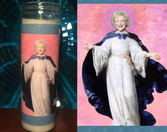 Saint Betty White Prayer Candle / Golden Girls Prayer Candle