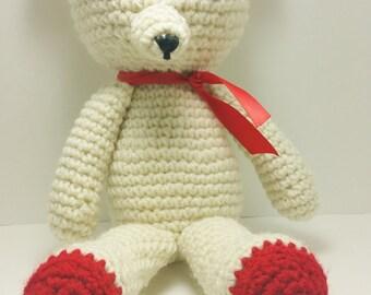 Handmade Crochet Teddy  Bear , Stuffed Animal
