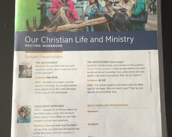 Our Christian Life and Ministry Meeting Workbook Vinyl Cover