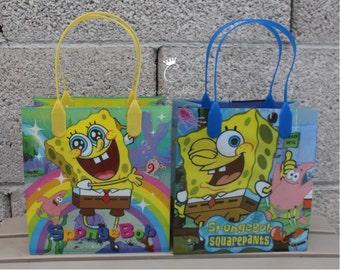 Sponge Bob Squarepants Treat Bags, Sponge Bob Squarepants Favor Bags, Dulceros de Bob el Esponja