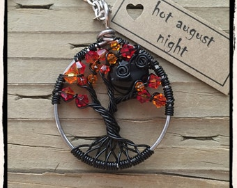 Hot August Night, Twisted Tree of Life pendant (adjustable length)