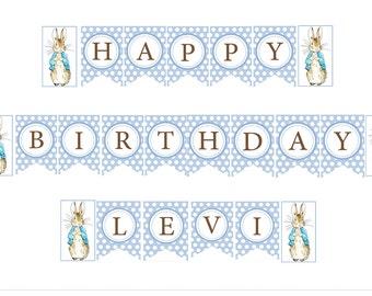 1st Birthday Custom Made Banner Set Peter Rabbit