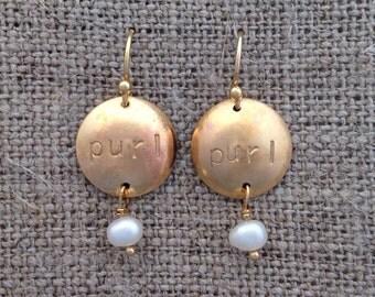 purl earrings - golden