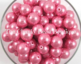 16mm pink resin pearls