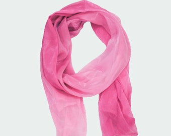 "Light and soft pink chiffon scarf - ""Cheskka"""