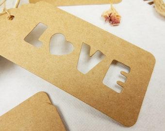 Love Luggage Tags, Rustic Wedding, Kraft Gift Tags, Wedding Place Cards, Romantic Wedding, Love Lettering