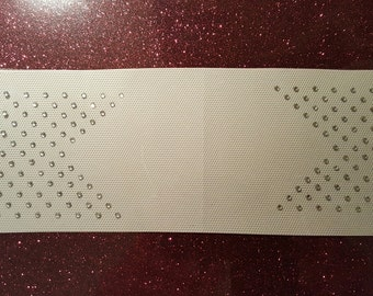 Set of 2 - Offset Rhinestone Heat Transfer for Cheer Bow Tails