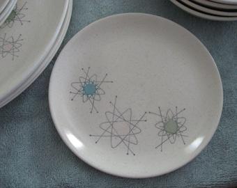 Atomic Starburst Stoneware Dessert Plates