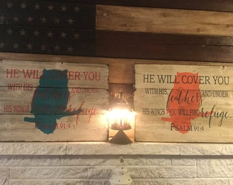 You will find refuge, wood sign,