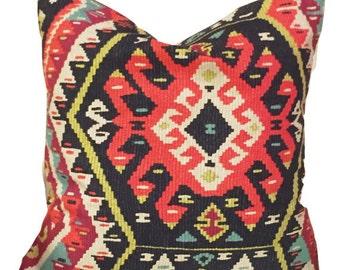 Aztec multicolor print pillow cover // decorative pillows // pillow covers // accent pillow // fiesta print // multicolor pillow