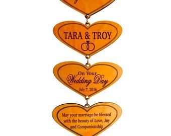 Wedding Couple Personalized Gift,New Weds Wall Hearts Gift,Gift to a Wedding Couple,1st Anniversary Gift,Custom Wedding Gifts,VeryNew Couple