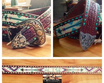 Custom Beaded Belt