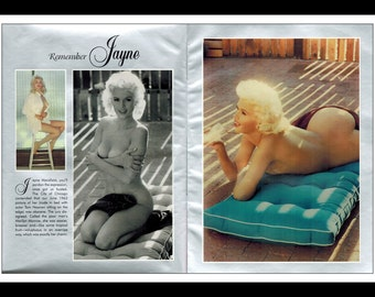 Mature Celebrity Nude : Jayne Mansfield Photo 2 Page Pinup Wall Art Deco Print