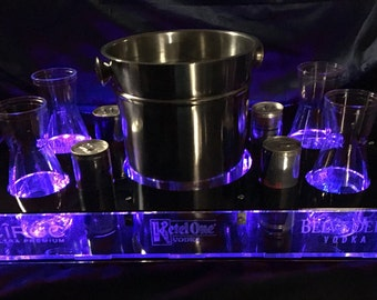 Bottle Service Tray with LED lights