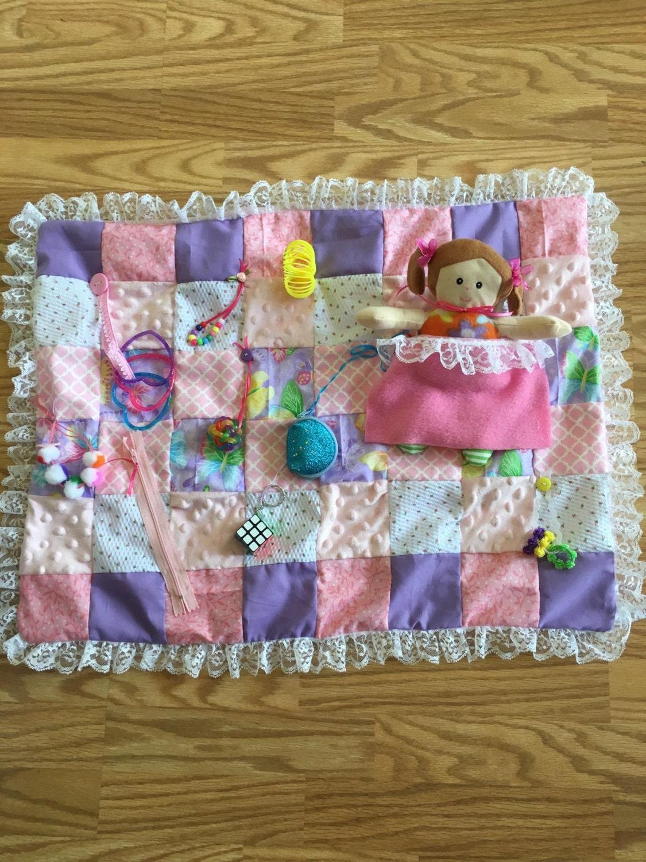 Senior Activity Blanket Lap Quilt Fidget Blanketsensory