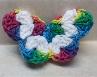 Crochet Butterfly pattern 3D Easy DIGITAL DOWNLOAD ONLY
