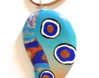 ras neck decoration pendant abstract
