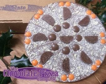 Orange Appealing Chocolate Pizza