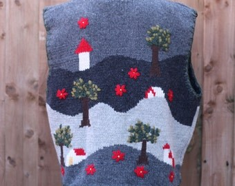 Woodland Knitted Sweater Vest