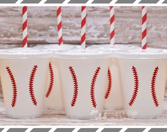 Baseball Birthday Party-Baseball-Party Cups-Set of 10