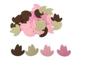 100 Assorted Cowboy hat Confetti, Die Cut, Baby Shower, Cowgirl theme Party, Cowgirl Décor, Baby girl, Cowgirl Birthday Party, Western theme