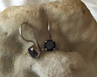 IRIDESCENT IOLITE - Deep Violet Blue Iolite and Sterling Silver Earrings
