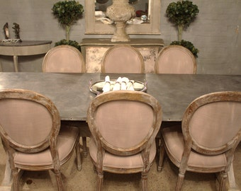 Zinc Dining Table- Bespoke - Handmade in England-