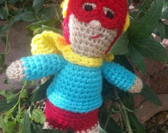 Superhero sidekick ready for adventure!