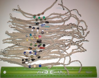 handmade knotted hemp bracelets