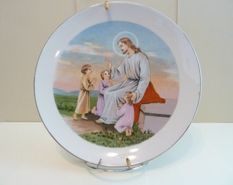 Collectible Plate, Praying with the Children, Made in Japan