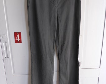 Vintage Prada black cotton stretch trousers size 44 UK 12