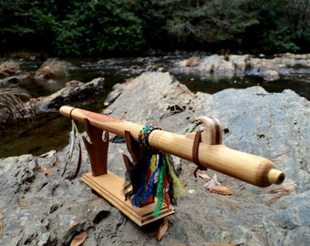 Wooden Flute in the Native American flute style with flute stand - Love flute, Indian flute, wood flute, flute instrument, WoodWind