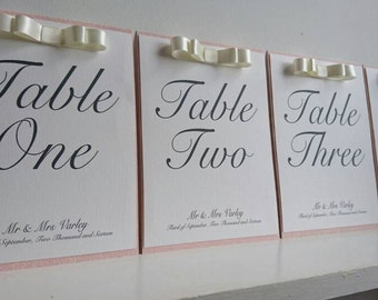 Table Name/Number Wedding Table Card