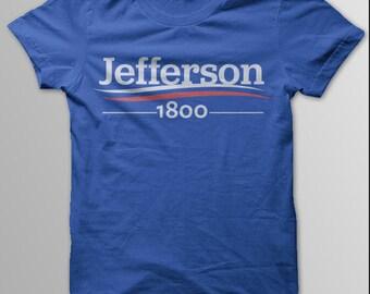 HAMILTON Shirt, Hamilton, Hamilton Musical, Jefferson 1800, Alexander Hamilton, Aaron Burr, Election of 1800, Thomas Jefferson, W/M/ Shirt
