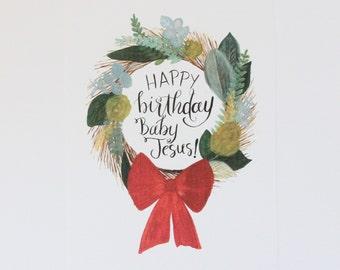 Happy Birthday, Baby Jesus! 8x10 Christmas print