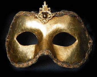 Traditional Venetian EYE Mask - white, black, silver or gold -  M128/129/153/154