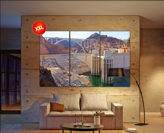 Hoover Dam  canvas wall art  Hoover Dam  wall decor canvas wall art  Hoover Dam large canvas wall art wall decoration