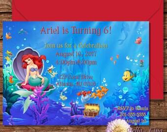 The Little Mermaid Invitation