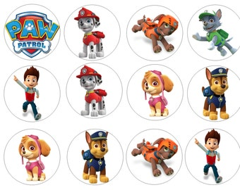 Edible Paw Patrol Cupcake/Cookie Toppers