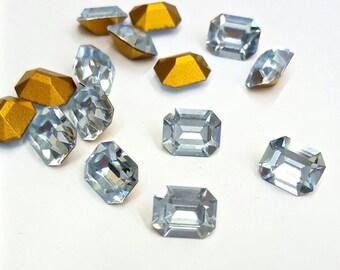 12 Pieces Lavendel Swarovski Crystal Octagon Stones, Article #4600, Vintage, 8x10mm Octagon