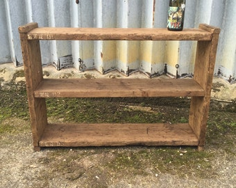 Industrial Up-Cycled Shelving Unit